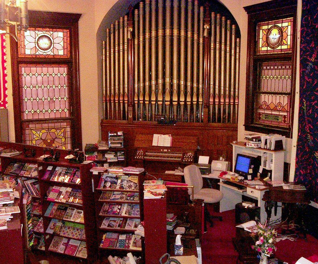Pipe organ at Charlton Sewing Center Charlton MA