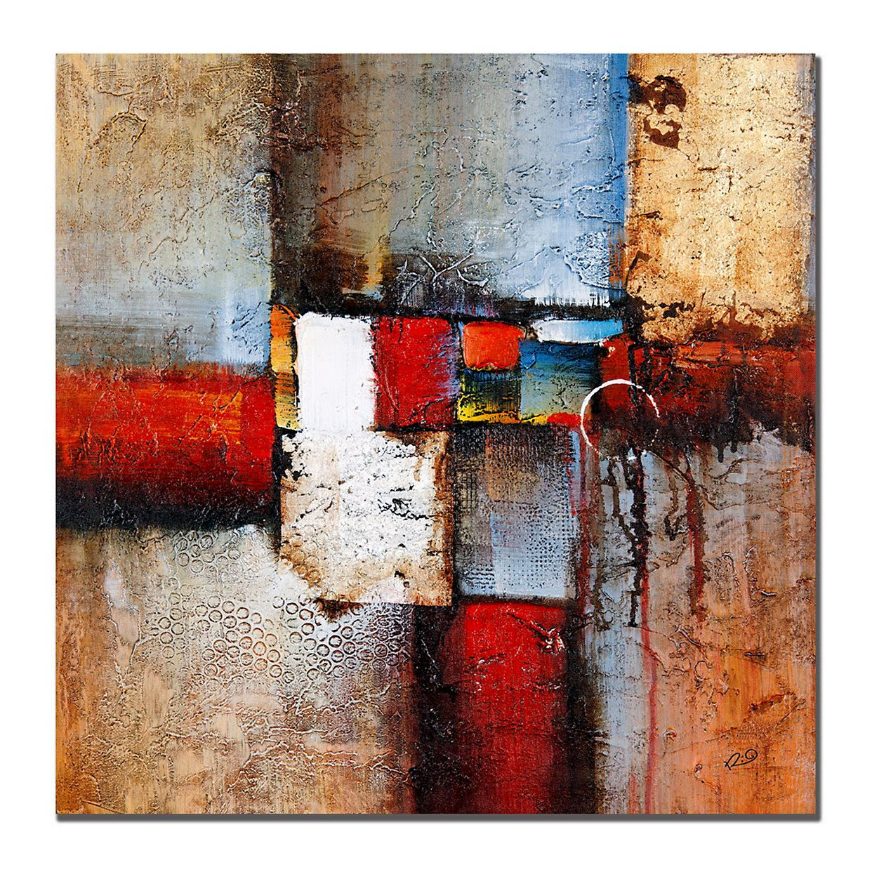 35 X 35 Cube Abstract Vi Canvas Wall Art Abstract Canvas Art Cube Abstract