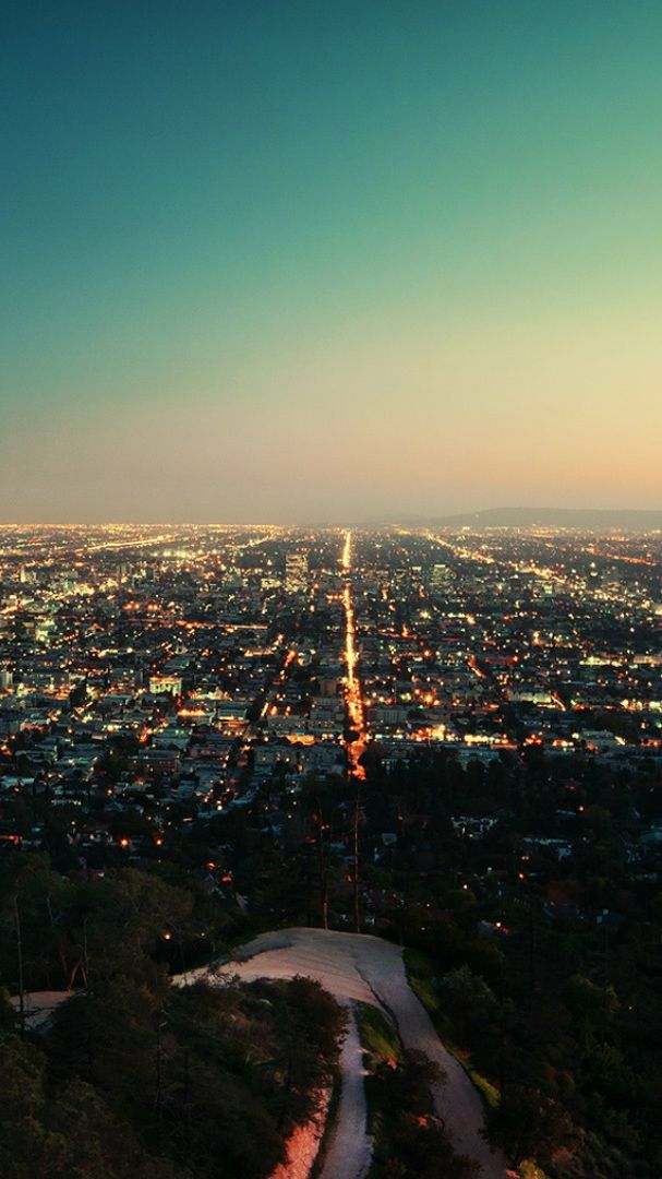 Los Angeles California City Night Iphone Wallpaper In 2019