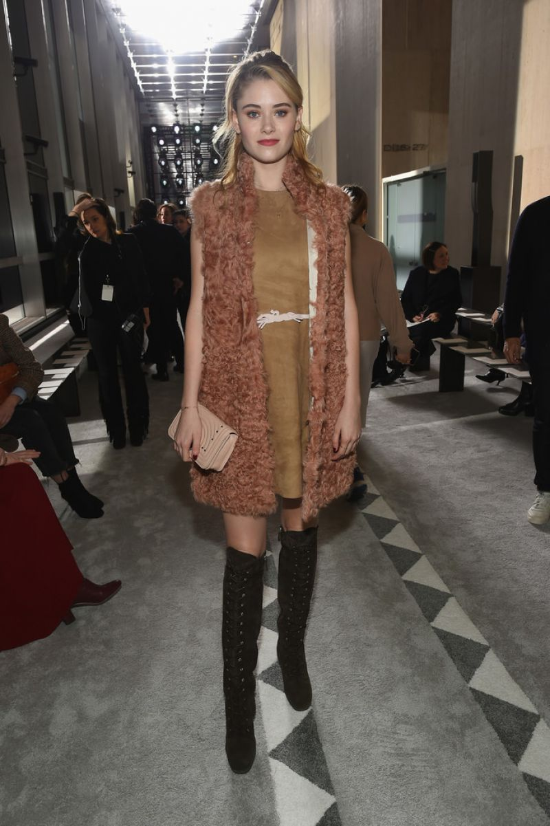 Virginia Gardner At Longchamp Show During New York Fashion Week