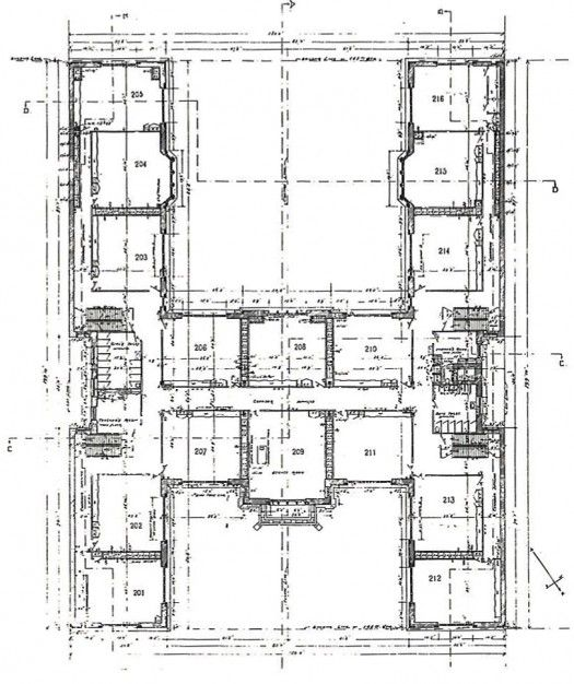 H Shaped House Floor Plans Original 2nd Floor Plan Of The 1906 Building Architectural House Plans House Plans School Floor Plan