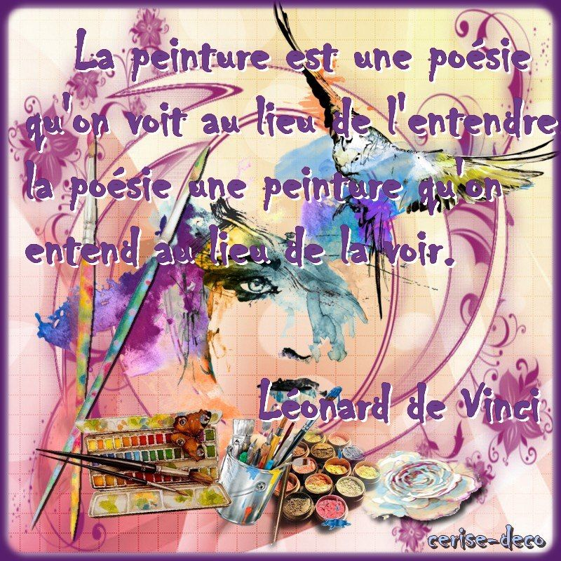 Citation Illustree La Peinture Citations Illustrees De Vinci Videos De Peinture