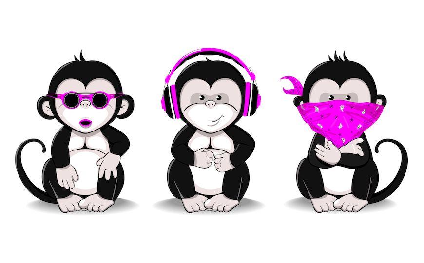 This Isn T Monkey Business Best Practices For Business Success Rocks Digital Monkey Illustration Monkey Drawing Monkey Art