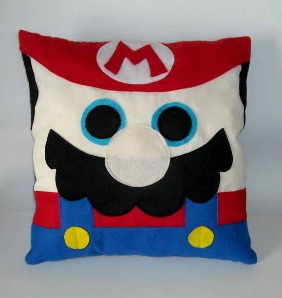 Almofada Mario Bros   Costura Criativa   167497 - Elo7