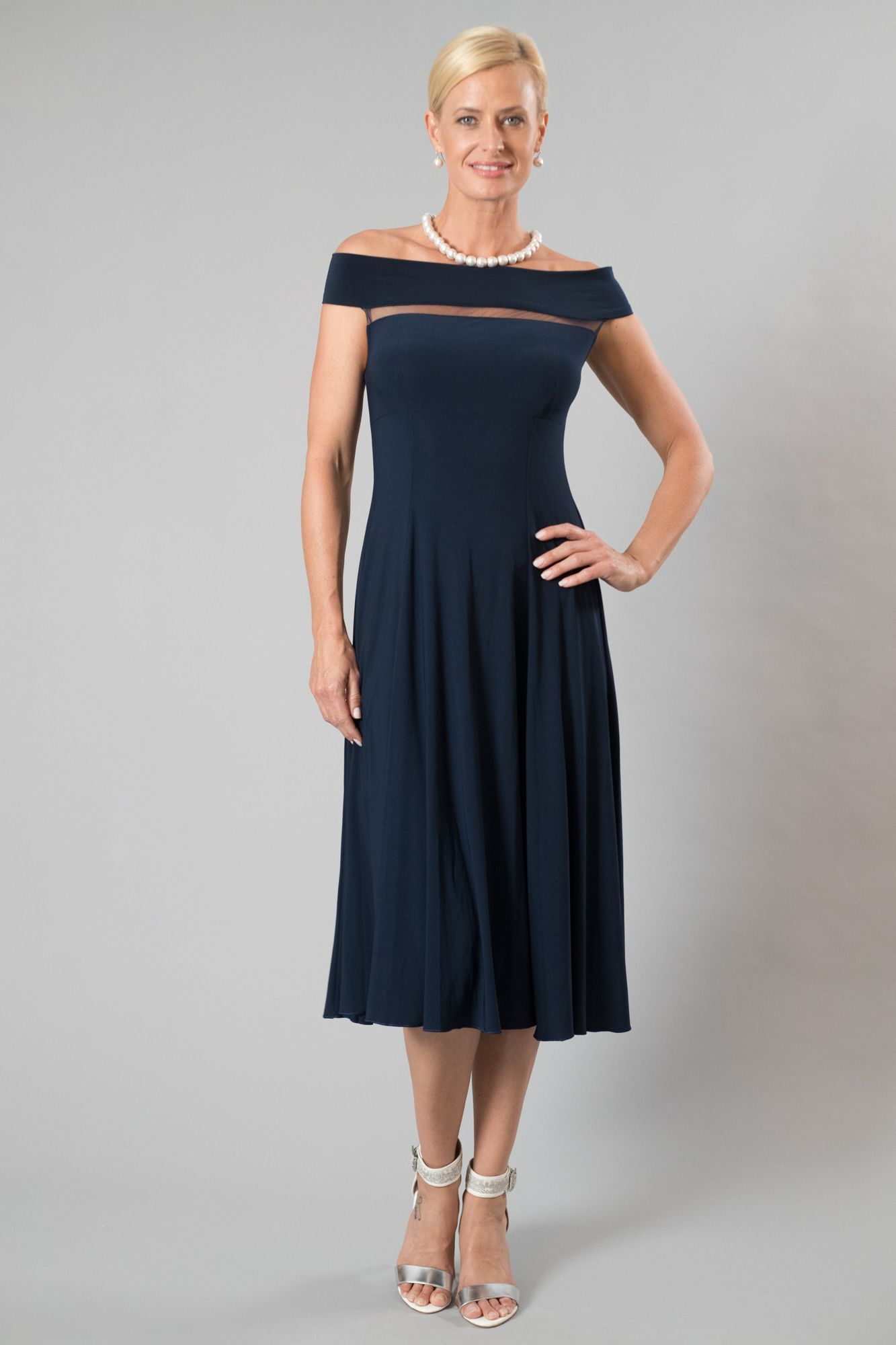 33d2fdd8261 Living Silk - specializing in navy dresses and two piece outfits with  sleeves for the modern and elegant mother of the bride and mother of the  groom.