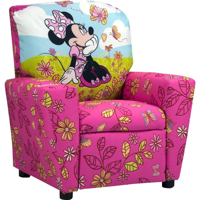 Disney Minnie Mouse Cuddly Cuties Kids Cotton Recliner With Cup
