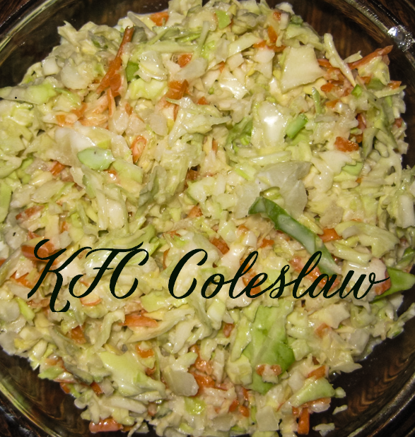 KFC inspired coleslaw!...If you like coleslaw you will love this recipe!  It is the best. Perfect side to chicken tenders, or pork BBQ. Coleslaw makes an amazing addition to wraps! Delicious!