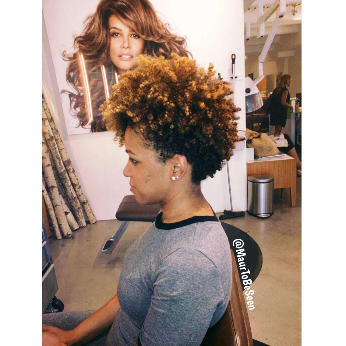 Tapered mohawk hybrid hair pinterest mohawks natural and