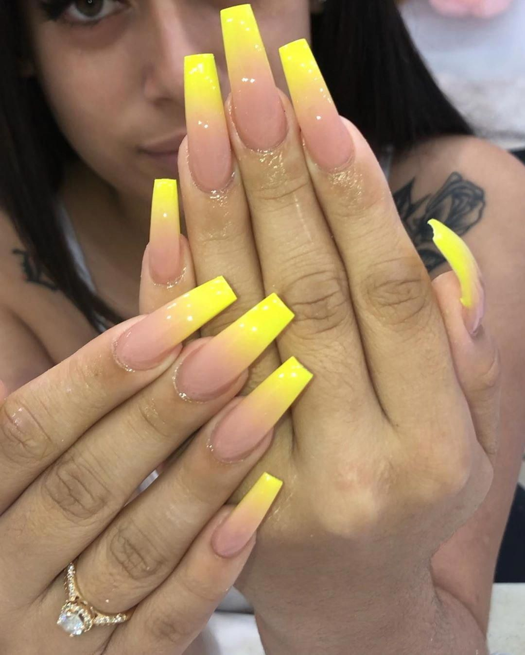 60 Acrylic Coffin Nails That Will Blow Your Mind | Nail Shapes