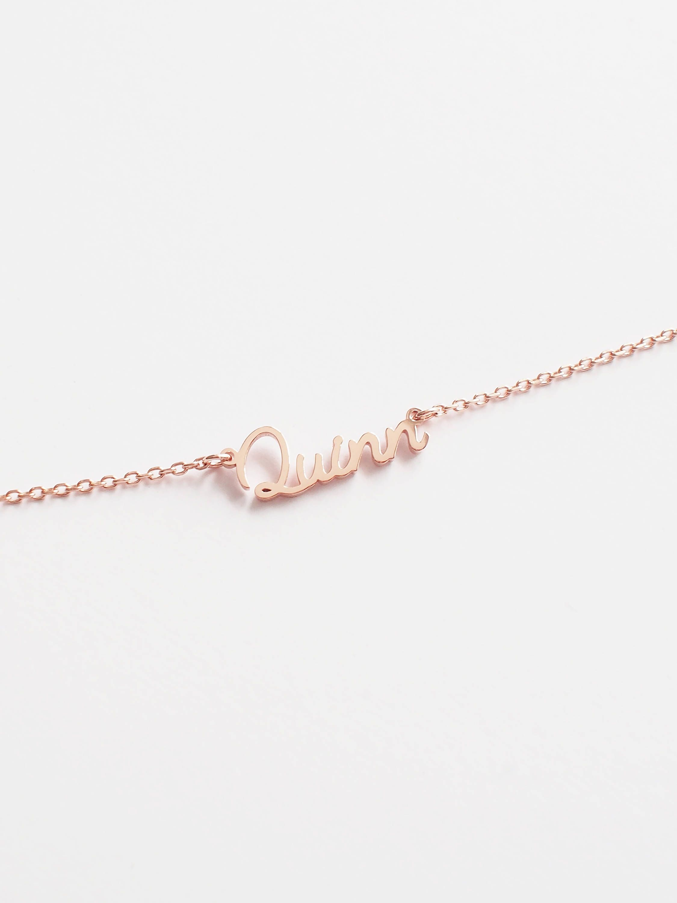 """Ouslier 925 Sterling Silver Circle Name Necklace with Heart Custom Made with 2 Names 14/""""-22/"""" Chain"""