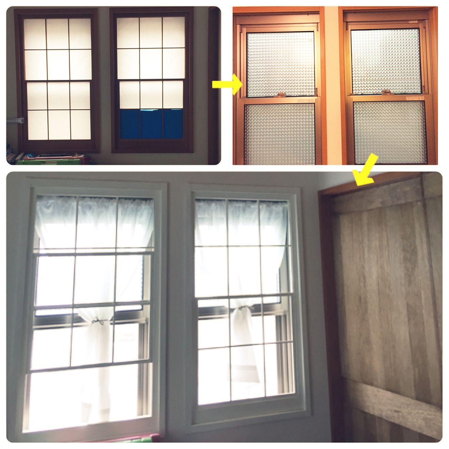 壁 天井 障子枠リメイク 窓飾りシート 和室を洋室に Diy などの