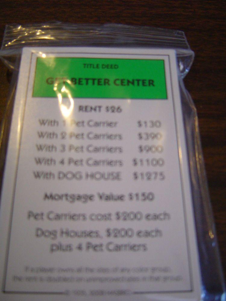 Littlest Pet Shop Edition Monopoly Title Deed Cards Full Set