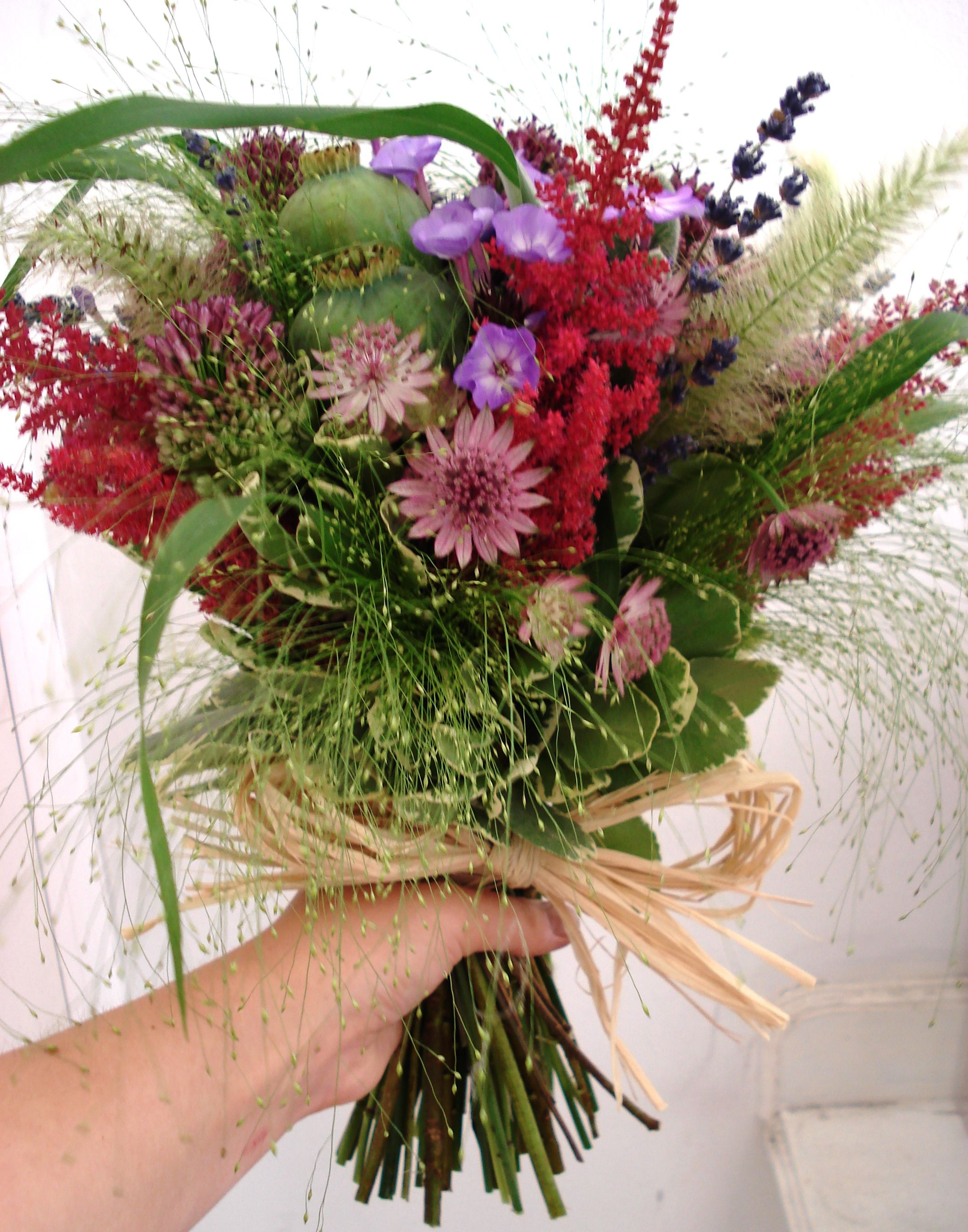 Country flowers Natural bouquet wedding, Country theme