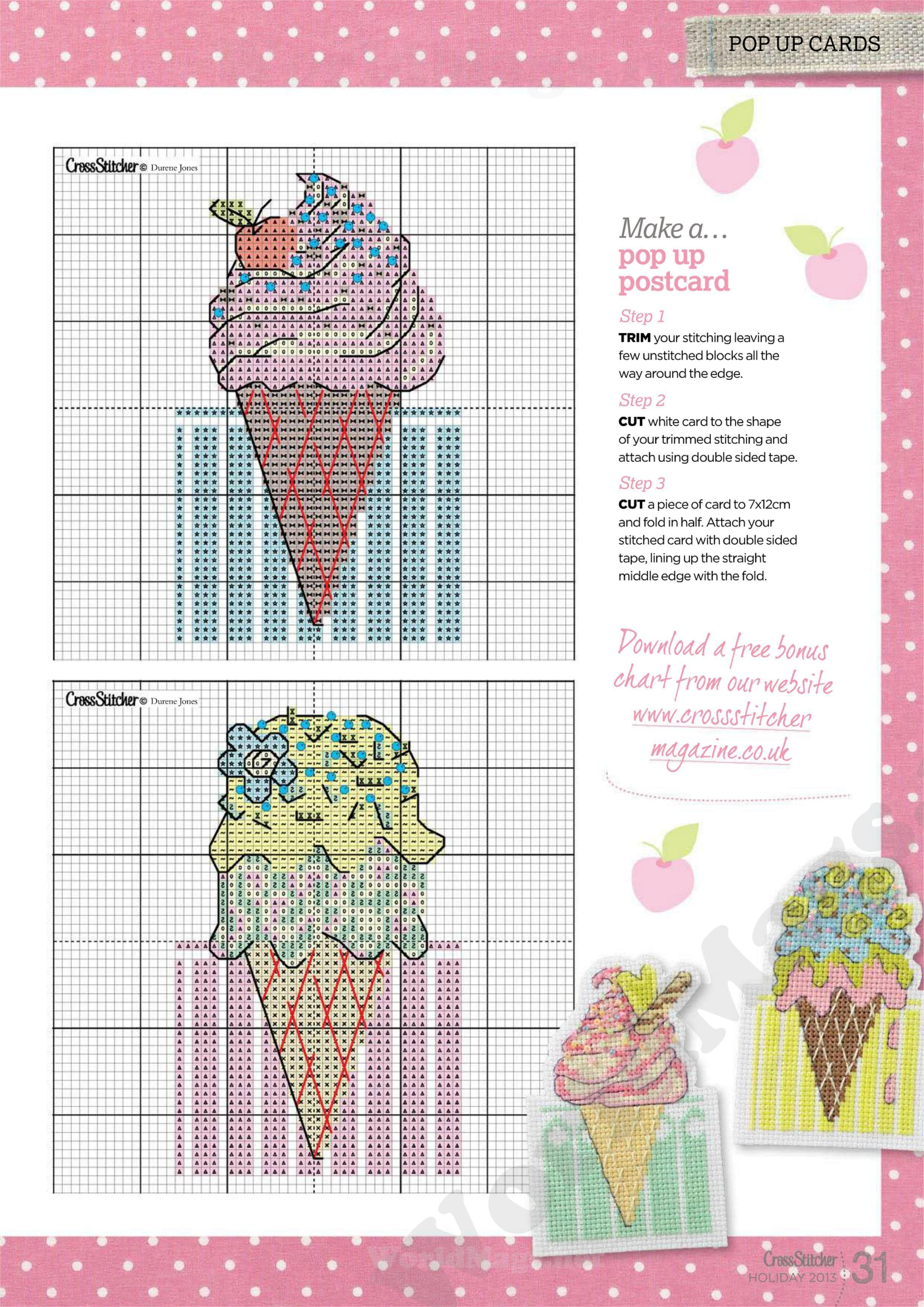 Ice Cream Cone B Cross Stitch Pinterest Kreuzstich Kreuze And