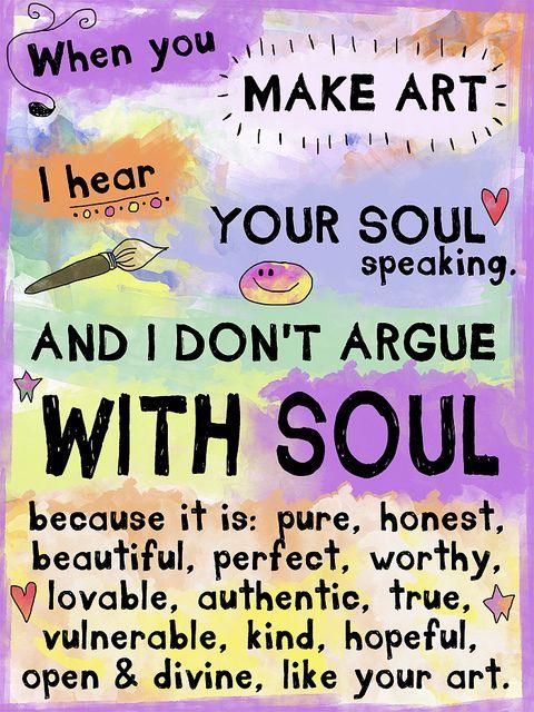 I don't argue with Soul