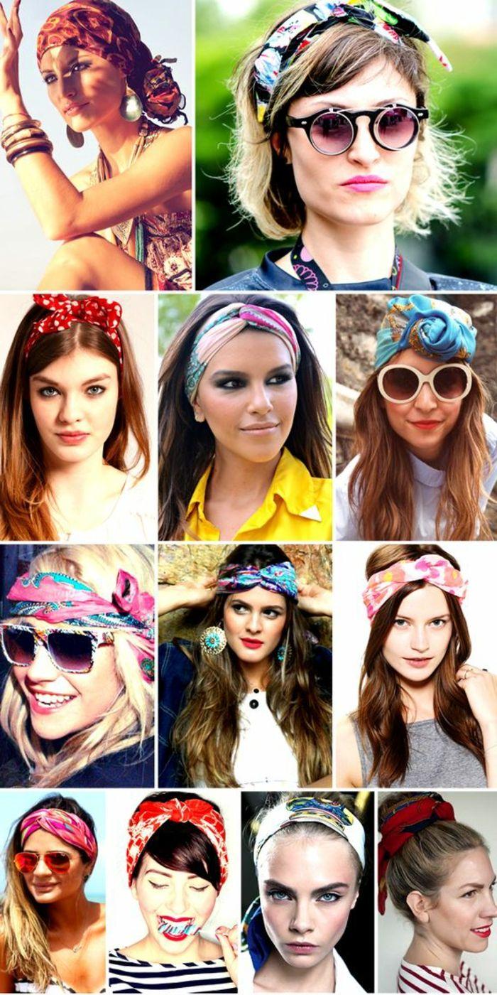 Bandana Frauen Haarband Make Up Sonnenbrille Hochsteckfrisuren Braune Haare Frisuren Mit Bandana Kurze Haare Haarband Haare Pflegen
