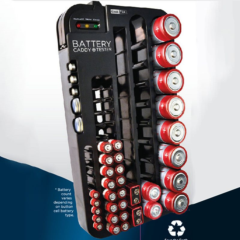Plastic Multi Function Battery Storage Box Removable Battery Power Tester 2 In 1 Organizer Holder 72pcs Batteries Battery Storage Battery Holder Battery