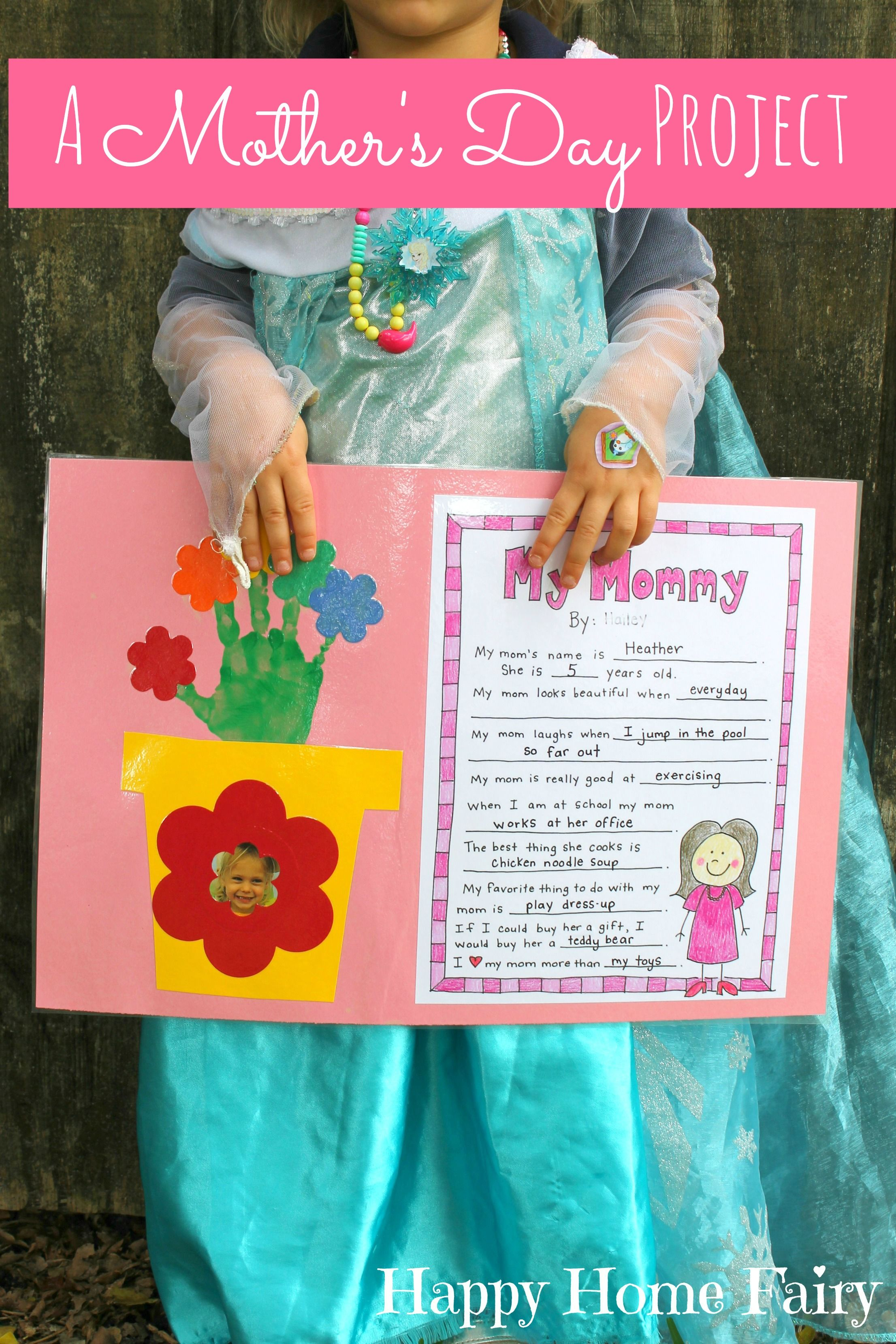A mother 39 s day project free printable project free for Mother s day projects for preschoolers