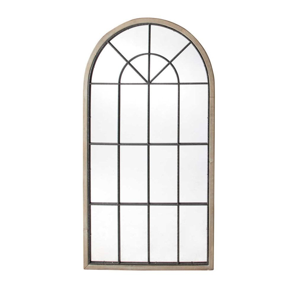 Miroir Fenêtre Demi Lune En Sapin 76x146 En 2019 Products Mirror
