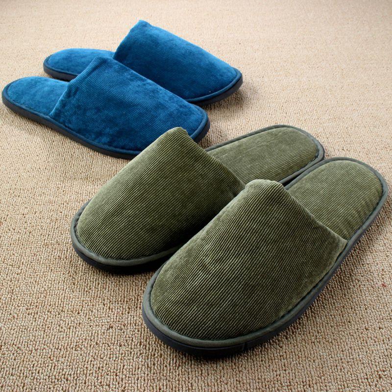 f117c577822 Chinelos Homem Corduroy Hotel Winter Home Shoe Women Indoor Slippers For  Men Corduroy Plush Soft Floor Pantufa Pantoufle Femme  Affiliate