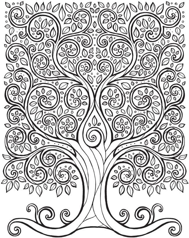 picture regarding Tree of Life Printable named Tree of everyday living coloring website page cost-free printable Dover Textbooks