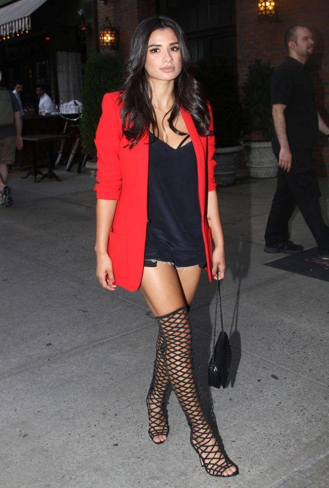 Splurge: Diane Guerrero's New York City Barbara Bui Red Slim Lapel ...