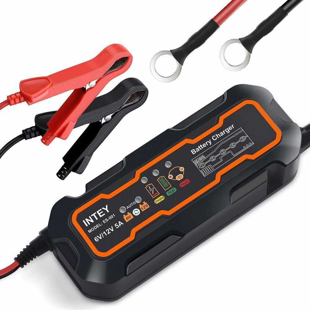 Chargeur Batterie Digital Intelligent Auto Moto Quad Bateau Voiture 12v 800ma Intey Moto Quad Quad Voiture