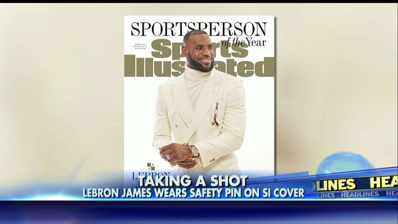 Message to Trump? LeBron Sports a Safety Pin in SI Cover Photo