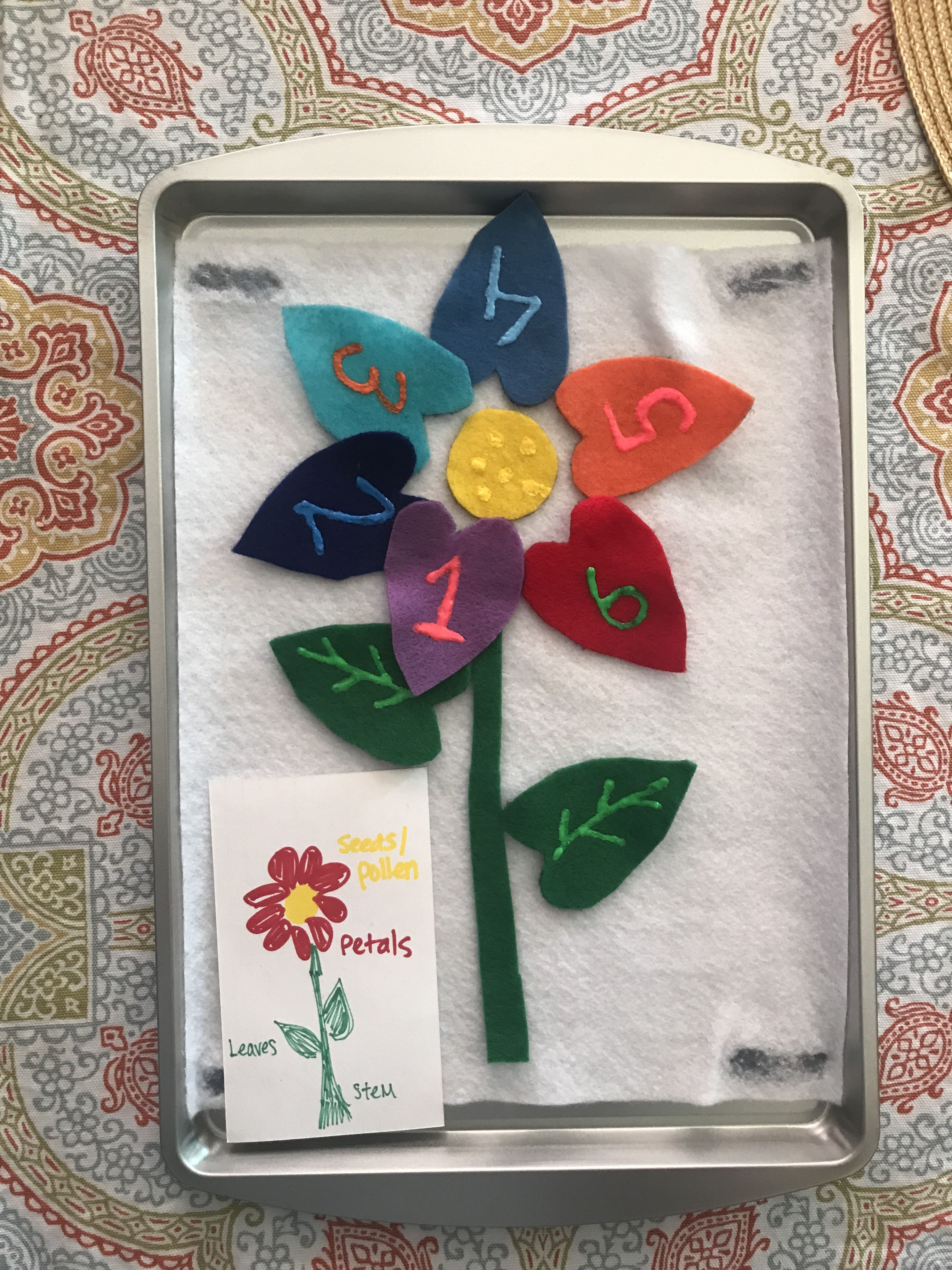 Flower Petal Counting Felt Work The Base Is A Larger