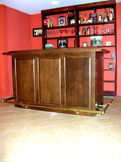 Free Standing Home Bars With Granite Top Made Cherry Bar With