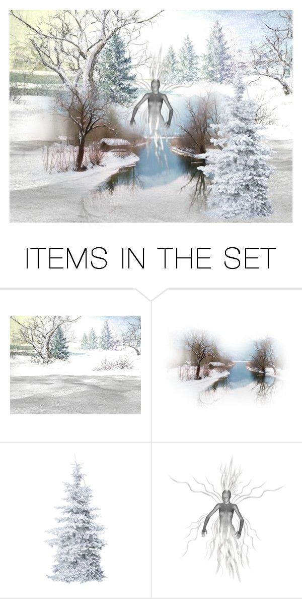 """""""winter ghost"""" by kim-coffey-harlow ❤ liked on Polyvore featuring art"""