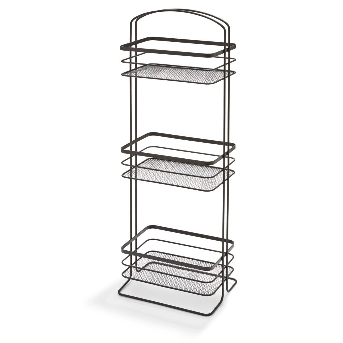 Superbe 3 Tier Floor Caddy Black Kmart From Bathroom Floor Caddy