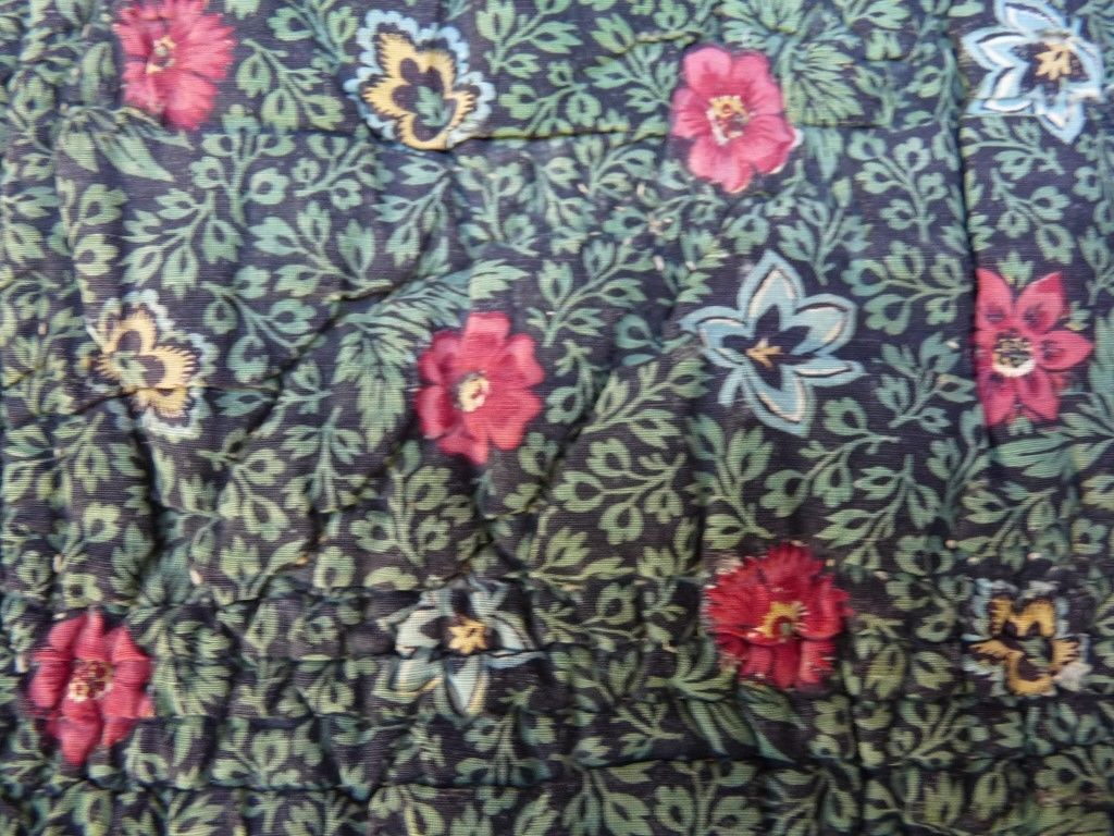 old french textile costume ancien 18e foulard provence boutis toile de jouy ebay design. Black Bedroom Furniture Sets. Home Design Ideas