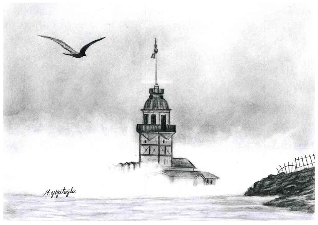 Kolay çizilen Karakalem çalışmaları Manzara Karakalem Art Resim