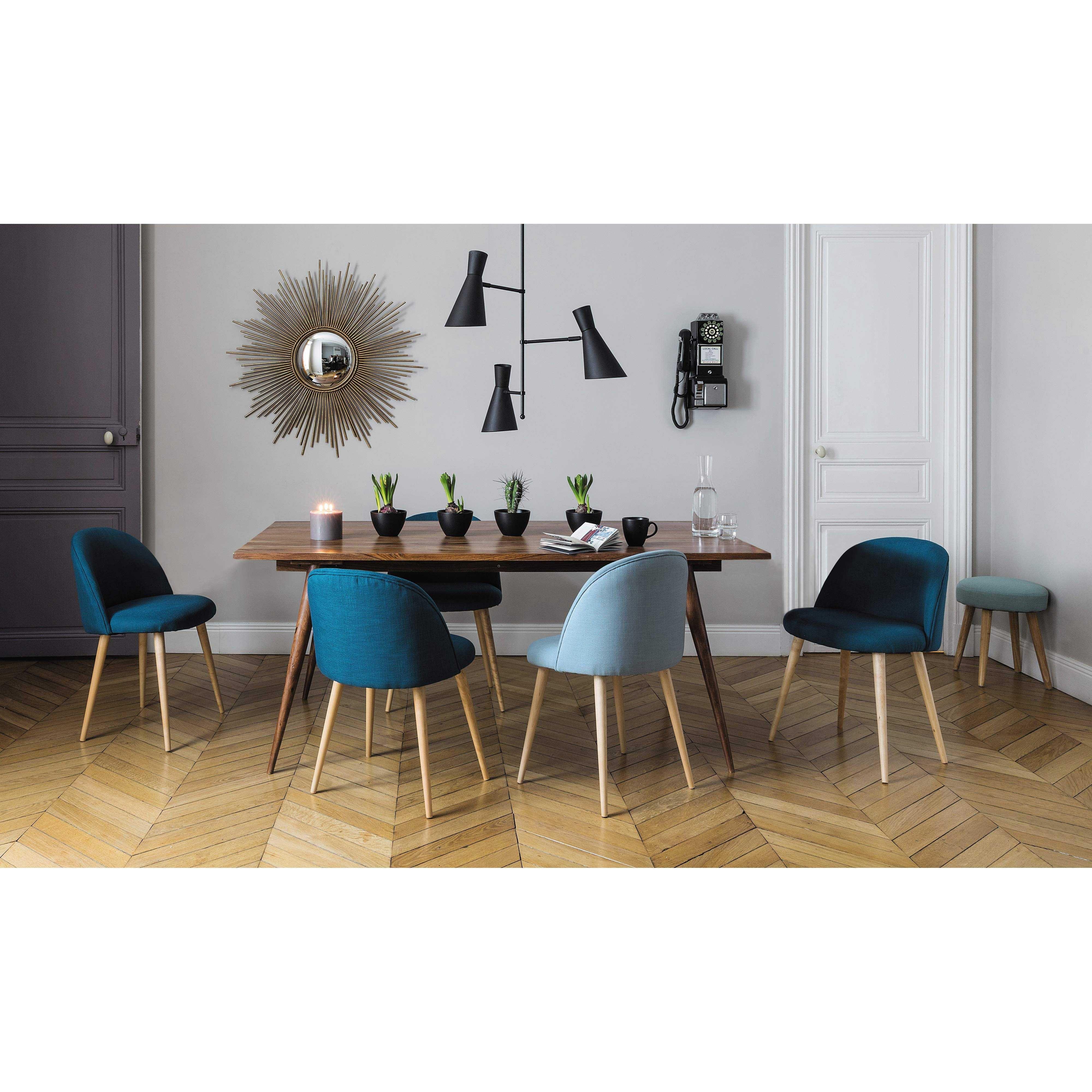 Chaise vintage bleue et bouleau massif maison du monde - Maisons du monde chaises ...