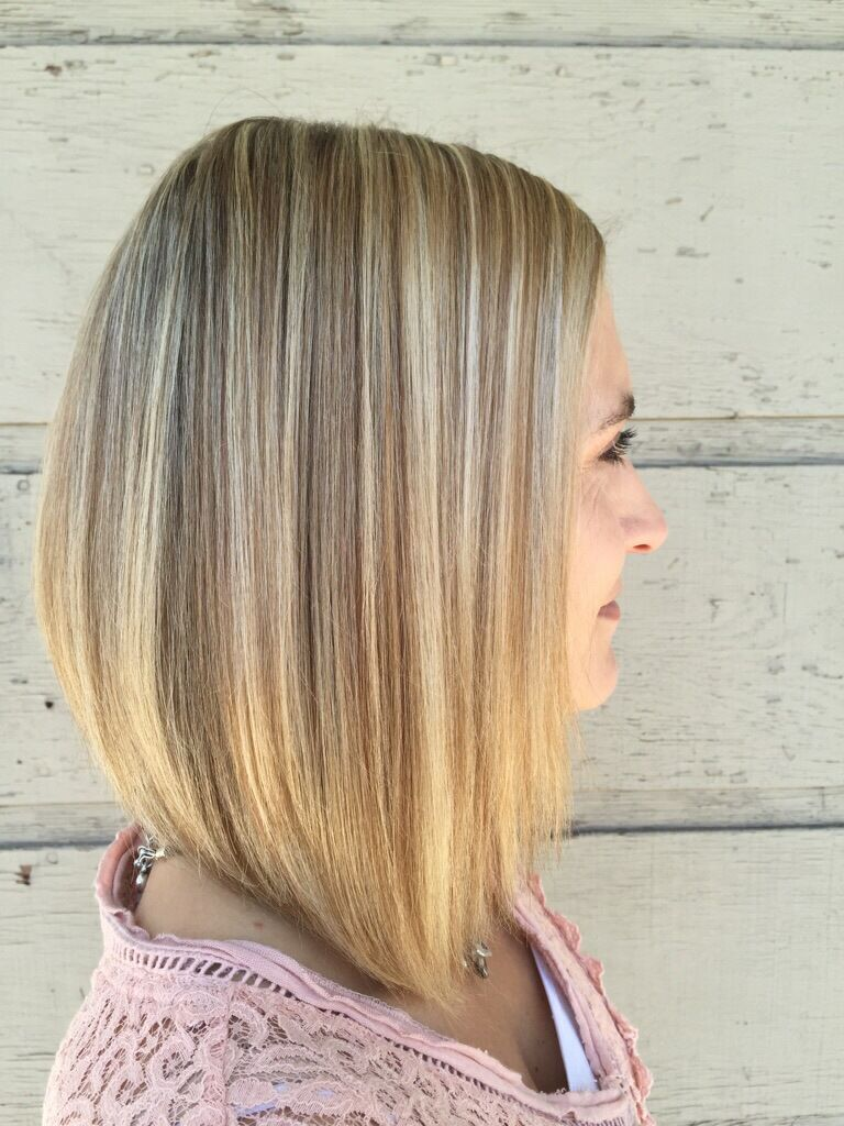 Highlights And Lowlights And Long Bob Shoulder Length