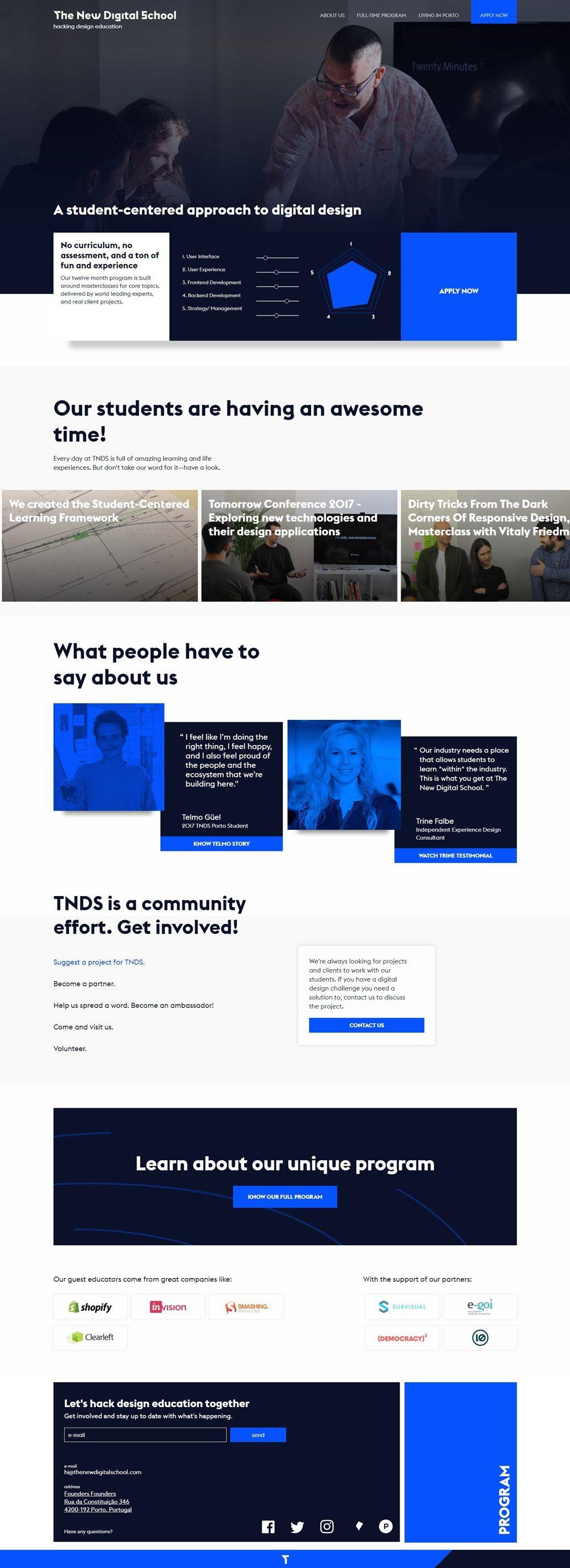 Modern And Creative School Website Designs For Inspiration Online Web Design Creative Website Design Inspiration Web Design School
