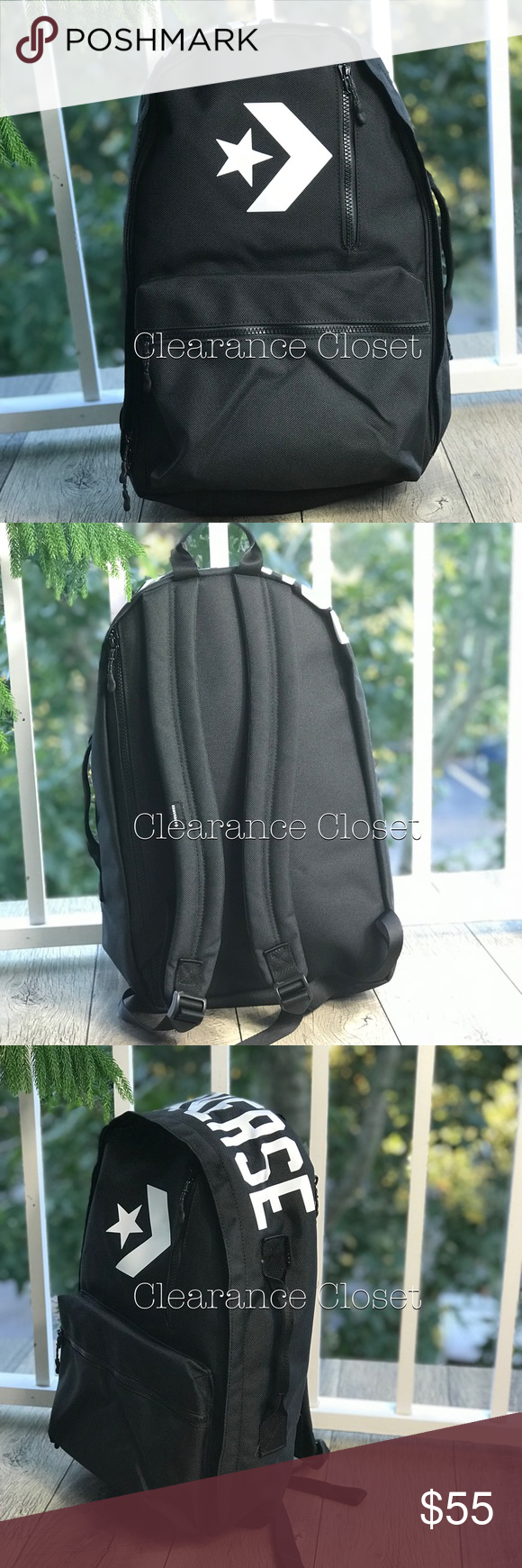 a1a65354fa NWT Converse Street 22 Backpack D Black Unisex Brand new with tag. Price is  firm! No trades. Materials  fabric - Textile