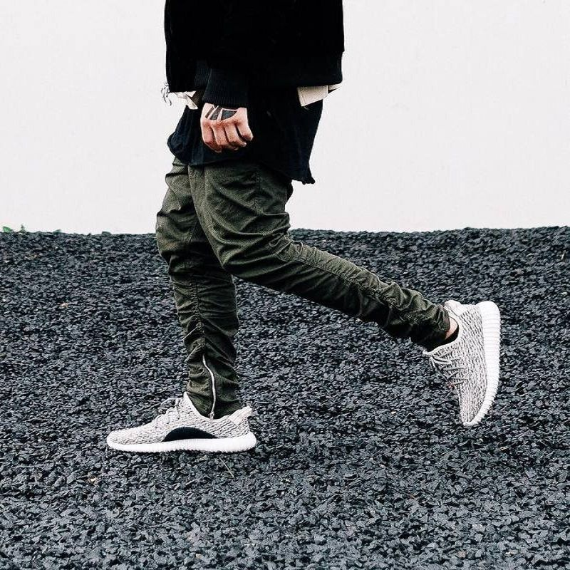 Justin bieber marca style side zipper uomo slim fit casual mens hip hop jogger biker pantaloni swag pantaloni della tuta pantaloni a sigaretta oliva