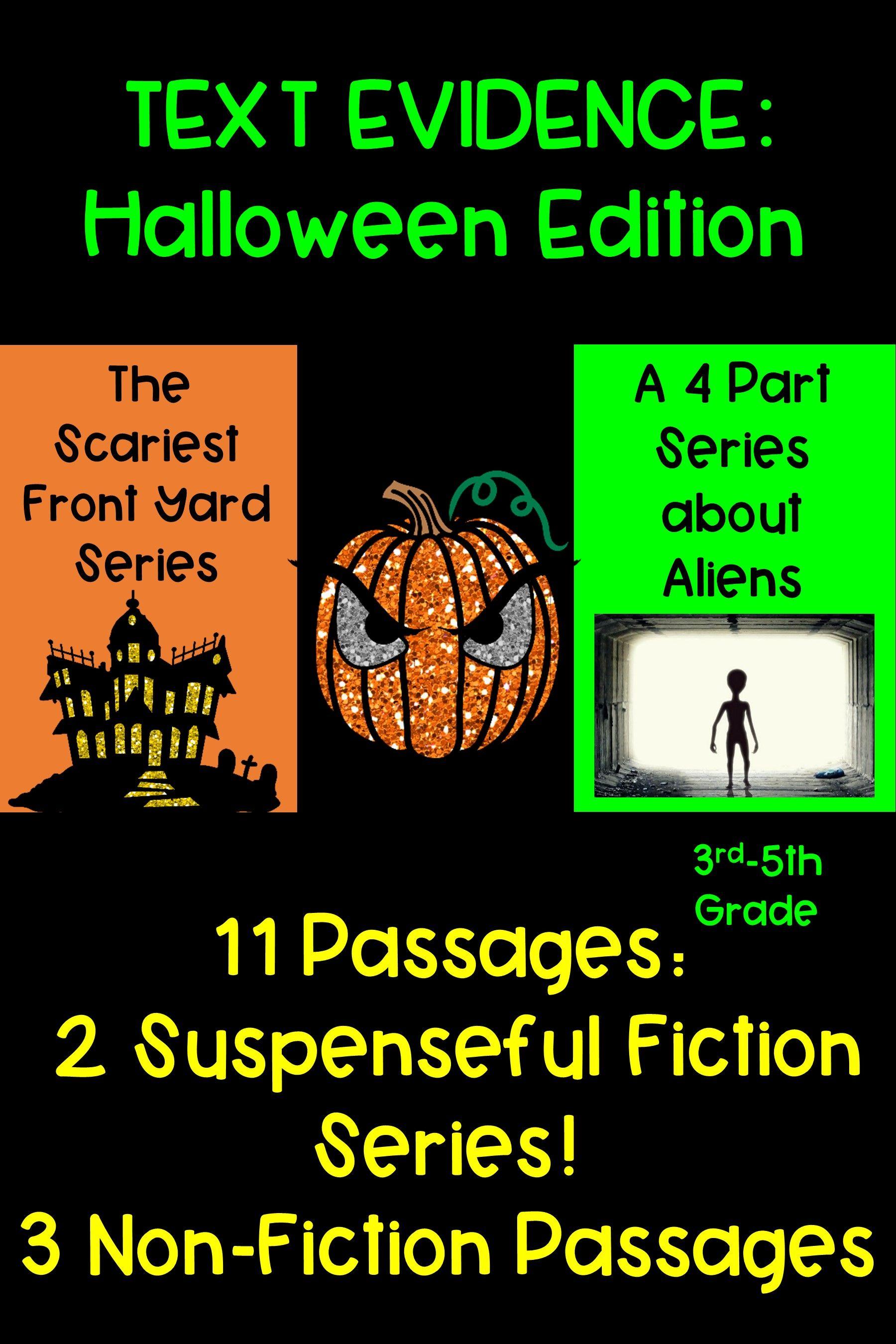 Text Evidence Halloween Stories