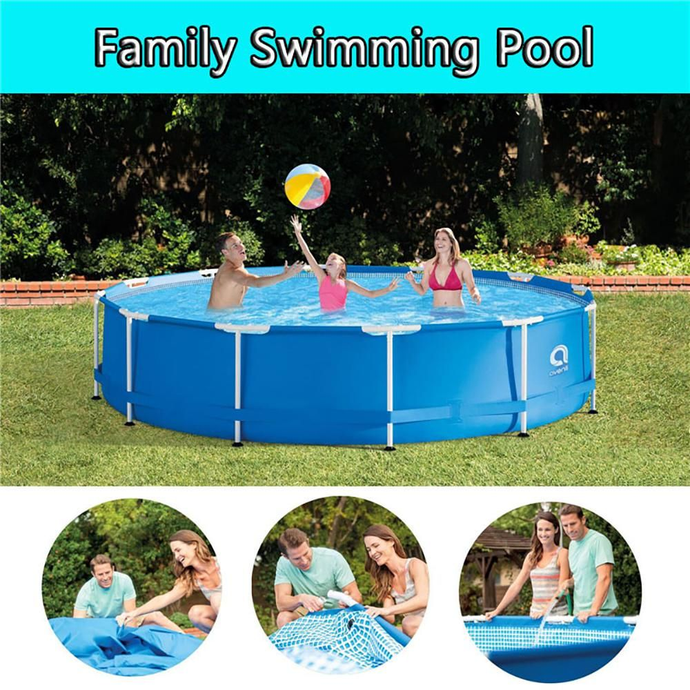 Avenli 10 Ft Round 30 In Deep Hard Side Metal Wall Above Ground Swimming Pool Inflatable Pool Tcht Llh1155 01 The Home Depot Above Ground Swimming Pools Swimming Pools Inflatable Swimming Pool
