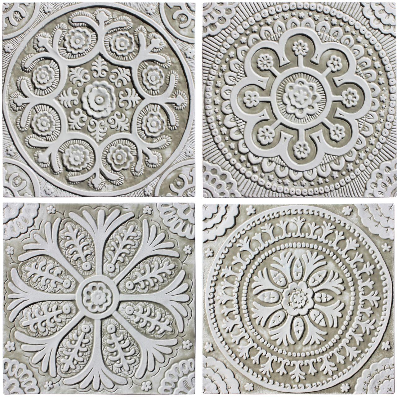 Suzani ceramic wall art 1 white 30cm ceramic wall art walls ceramic wall art suzani designs white collection hand made tiles architectural ceramics doublecrazyfo Choice Image