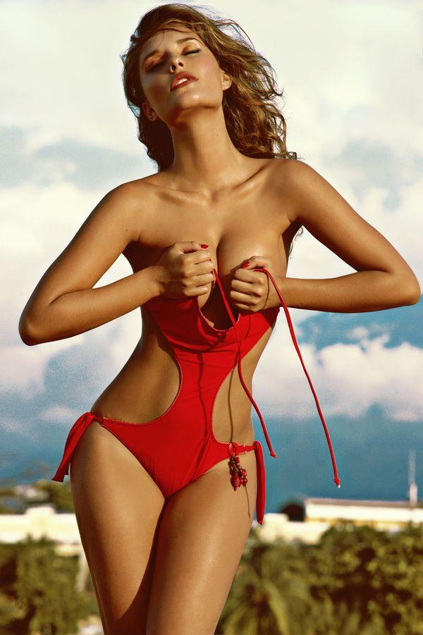Hot girl swimsuit strip