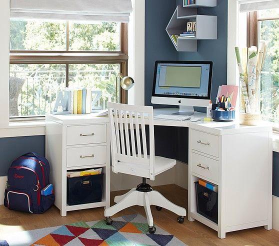 Everett Modular Corner Desk Pottery Barn Kids Corner Desk Desk Design Woodworking Desk Plans