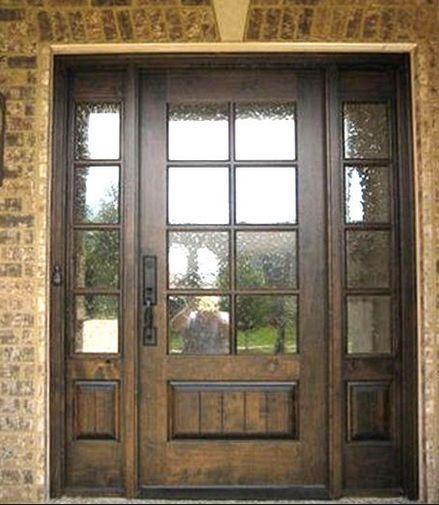 Mahogany 8 Lite Entry Door Unit With Sidelites Ksrdoor Craftsman Exterior Wood Front Entry Doors Craftsman Door