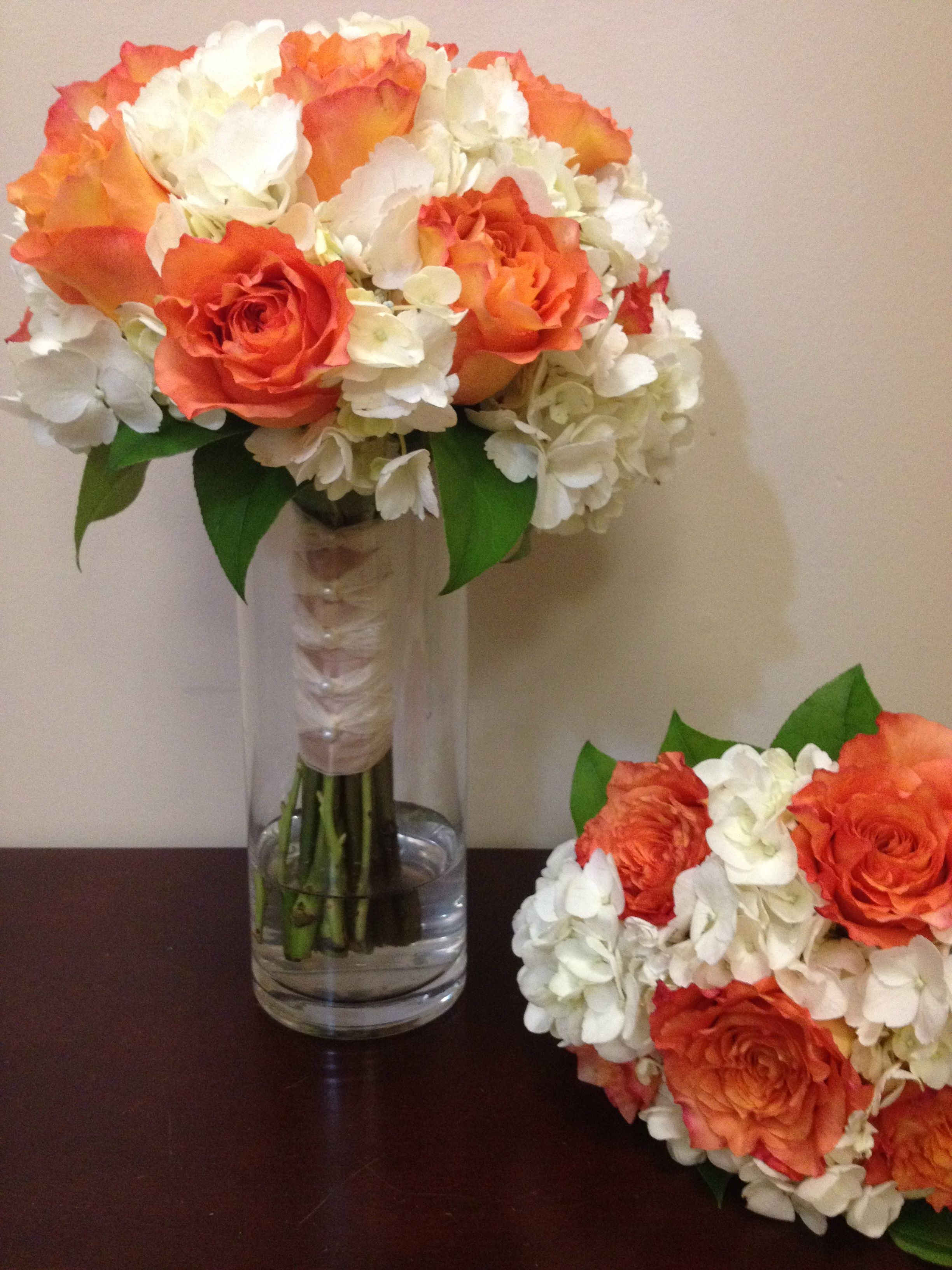 Hydrangea Free Spirit Rose Bridal Tossing Bouquets. www