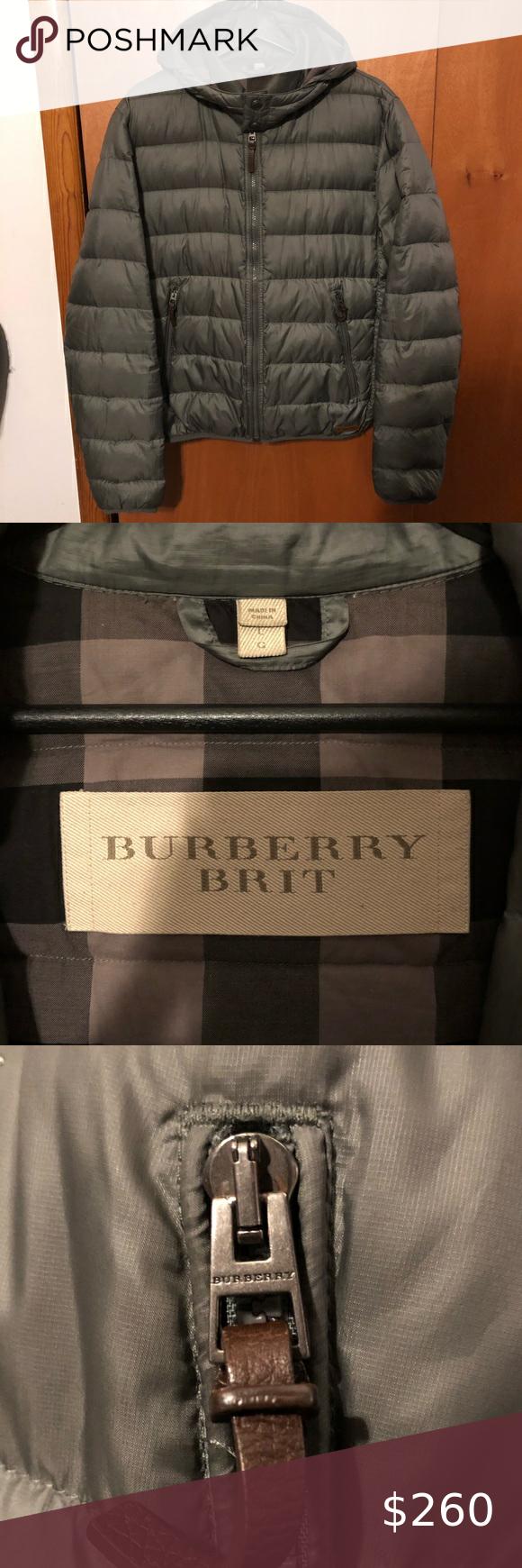 Men's Burberry Light Down Jacket Burberry Brit Ultra Light