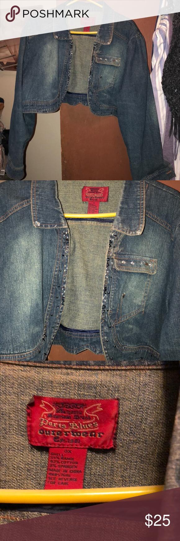 Paris Blues Shrug Distressed Jean Jacket 3x Distressed Jean Jacket Paris Blues Blue Outerwear [ 1740 x 580 Pixel ]