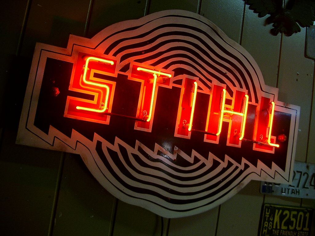 STIHL Chainsaw Neon Sign Reproduction Stihl, Chainsaw