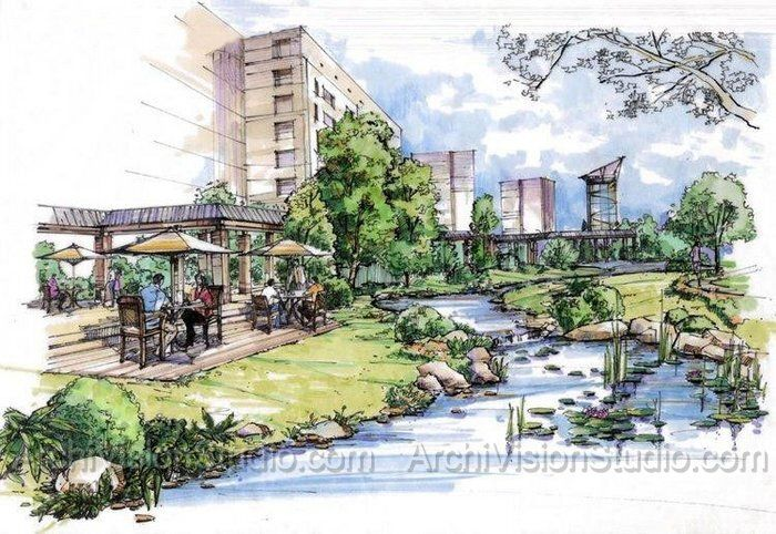 Colored Pencil Renderings Google Search Illustration